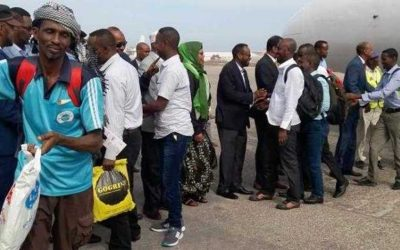 Somalia: Dozens of prisoners released from Indian jails arrive in Mogadishu