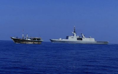 MARINE NATIONALE SHIP LA FAYETTE IN SUPPORT OF CTF 150 SECOND NARCOTICS SEIZURE IN UNDER A WEEK